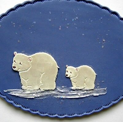 Polar Bears Cutters Set of 2 Large and Small Nursery Set Cake Deco