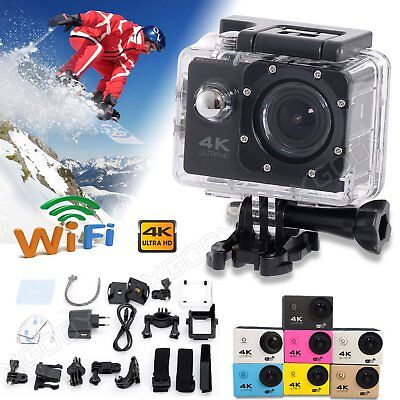 HD 4K 2'' Waterpoof Sports Camera WiFi Helmet Action Video Dash Cam Camcorder DV