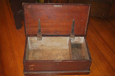 Antique Early Primitive Small Child's Blanket Chest with Till Original Finish