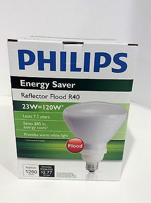 NEW Philips EL/A R40 23w cfl reflector flood r40 light bulb