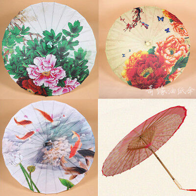 Dance perform Prop Handmade Oil Paper Umbrella Chinese National Vintage Parasol