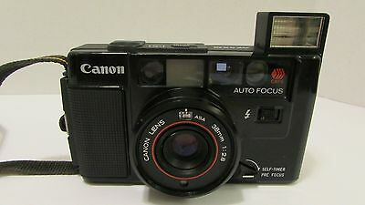 Vintage CANON AF35M Point and Shoot Camera||Flash Works||Not Tested with Film