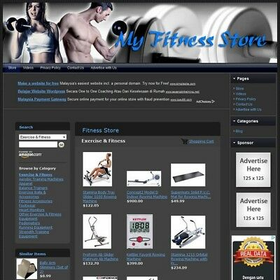 FITNESS STORE - Home Based Online Business Website For Sale - Unlimited Support!