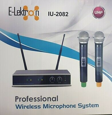 UHF Handheld Wireless Microphone System offers 2 X Mic