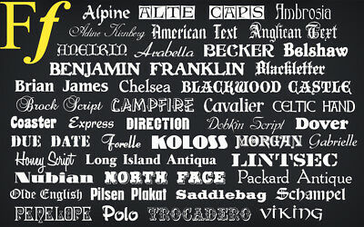 150,000 Fonts Collection Software ** Fonts Library ** Pc Fonts* Free Shipping