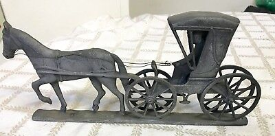 Vintage metal Buggy and Horse mailbox topper