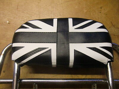 Black/White  Union Flag Scooter Back Rest Cover (Purse Style)