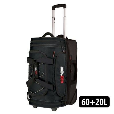 Blackwolf 1390 BLACK NEW Bladerunner 60+20L Wheeled Duffel/Duffle Bag