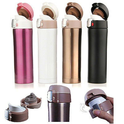 hot 500ML Stainless Steel Travel Mug water Vacuum Insulated Thermal Cup Bottle R