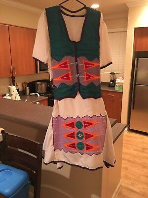 Fancy Shawl Powwow Regalia Set women - teen purple, white and turquoise