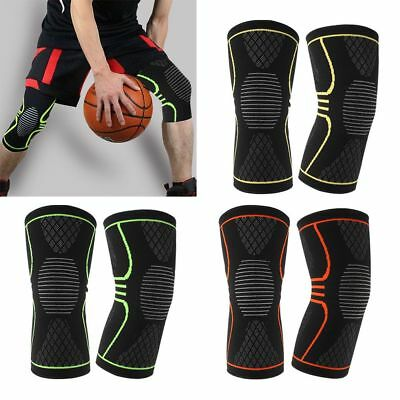 1 Pair Knee Sleeve Weight Lifting Support Compression Brace Protector Knee Wrap