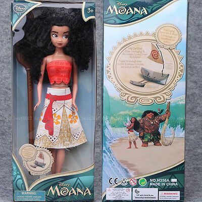 """Movie Moana 11"""" Classic Princess Doll Collection Figure cotton Girls Toy Gifts"""