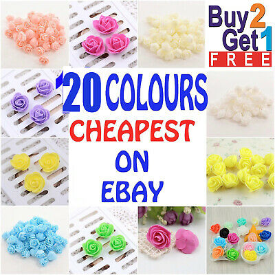 200 Mini Foam Roses Small Flowers Head Buds Wedding Bride Party Home Decoration