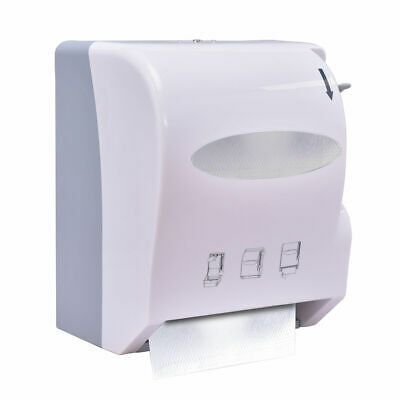Roll Paper Towel Dispenser Wall Mount Heavy Duty Commercial Home Use White