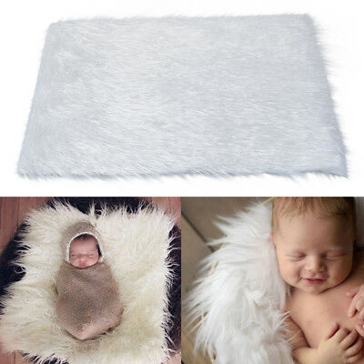 Hot Newborn Photography Props Rug Baby Photo Backdrop Plush Blanket Soft Carpet