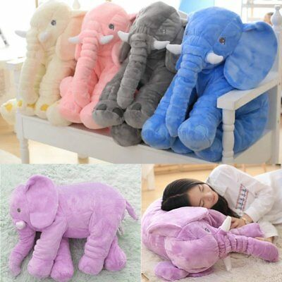 Stuffed Animal Cushion Kids Baby Sleeping Soft Pillow Toy Cute Elephant LOT CV