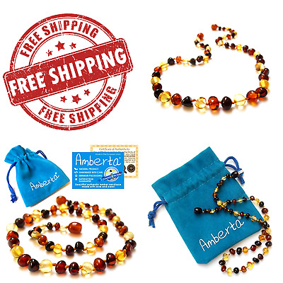 Necklace Anti Inflammatory Drooling Relief Teething Pain Reduce Babies Teething