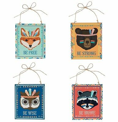 Set of 4 ~ Animal Adventure Plaques ~ Sass & Belle