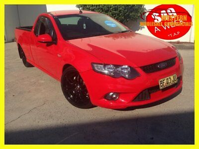2010 Ford Falcon FG XR6 Ute Super Cab 2dr Spts Auto 4sp, 530kg 4.0Gi (flr) Red