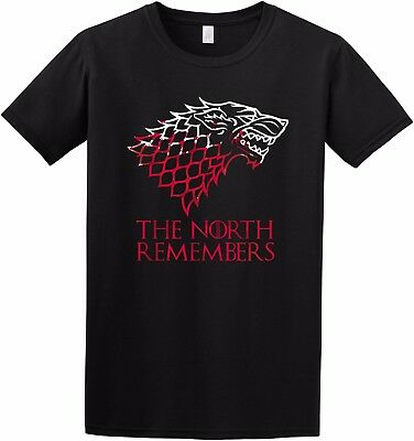 """""""The North Remembers """" Game of Thrones Inspired T Shirt S to 2XL"""