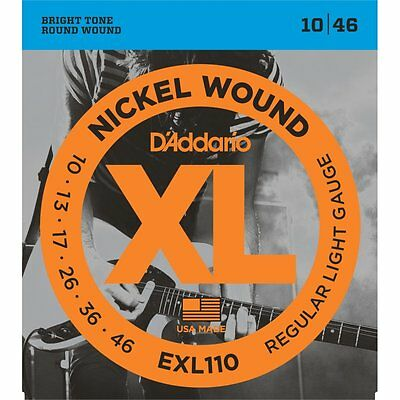 D'Addario EXL110 Electric Guitar Strings 10-46, Regular Light Gauge