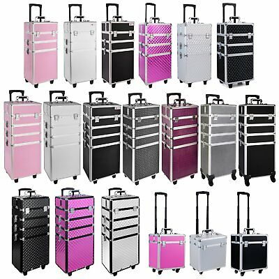 3/4  in 1 Makeup Vanity Case Cosmetics Nail Kit Hairdressing Box Beauty Trolley