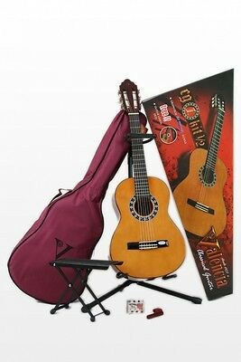 Valencia 1/2 Concert guitar, Scale length 53 cm, with case, Stand, Footrest etc