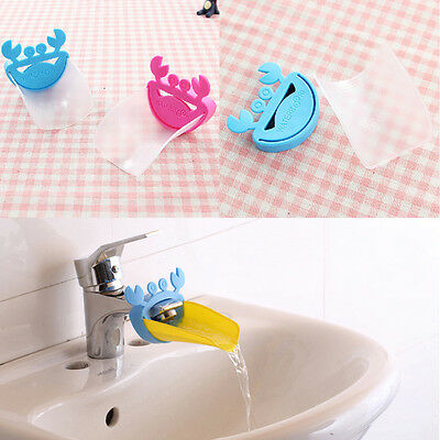 Crabs Shape Tap Baby Wash Hand Washing Device Extending Plastic Guide Groove