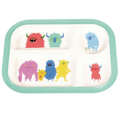 dotcomgiftshop MONSTERS OF THE WORLD MELAMINE TRAY