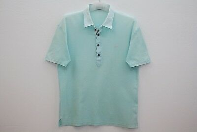 Burberry London Black Label Turquoise Cotton Polo Shirt Made In Japan Size 3