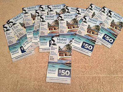 $50 My Hotel Gift Card Good @ Hilton Marriot Radisson &  More! 70K Hotels No EXP