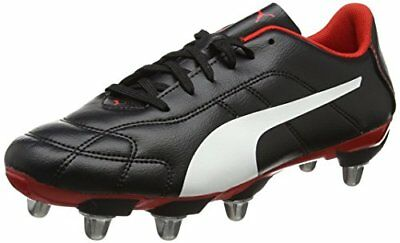 Puma Classico C H8 SG Black White Red Rugby Boots Size UK  7 - 14