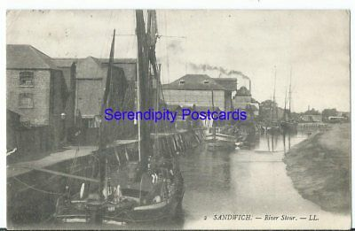 Sandwich Kent River Stour Boats Barges by Louis Levy LL #2 Used 1908