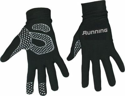 Running Cycling Thermal Black Gloves with Smart Phone Touchpad