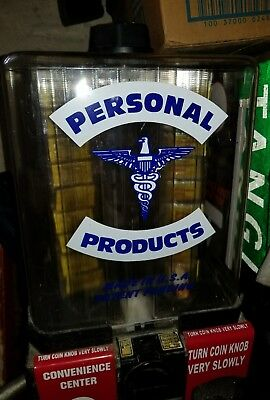 "Personal Products Vending Machine 18"" Tall x 11""  Vintage - Condoms - Medicines"