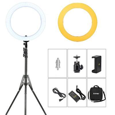 "14"" LED RingLight Dimmable 5500K Lighting Video Stand Kit for Camera/Photography"