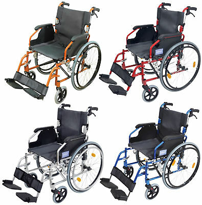 Aidapt Deluxe Lightweight Self Propelled Aluminium Wheelchair (Choose Colour)