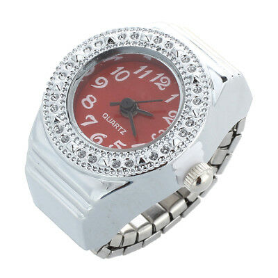Quartz ring watch ring round, women's jewelry dial numbers Rouge Arabic O9N5