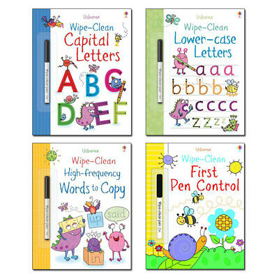 Usborne Wipe-Clean Writing Collection Book Pack (4 books) RRP £19.96