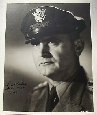 General Ira Eaker Signed Photograph Commander U.S Eight Air Force WW2 Authentic.