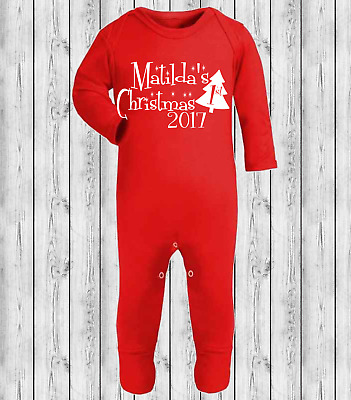 Personalised My 1st Christmas Vest Baby Vest Babygrow Babies First Christmas