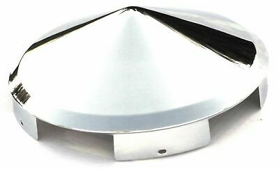 hub caps(2) front pointed cone chrome for Freightliner Kenworth Pete alum wheels