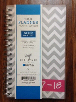 ".2017 - 2018 Dabney Lee for Blue Sky 5"" x 8"" Weekly/Monthly Planner, Gray Ollie"
