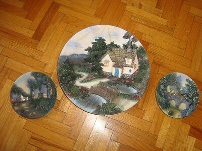 Beautiful Set Of 3 Embossed Wall Or Support Plates