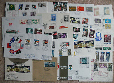 Malta Collection Of 24 First Day Covers