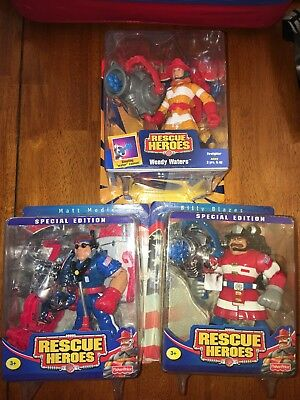 NEW Rescue Heroes lot SPECIAL EDITION Billy Blazes Matt Medic 1998 Wendy Waters