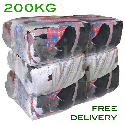 200Kg Bag of Rags Mixed material wipers - excellent value