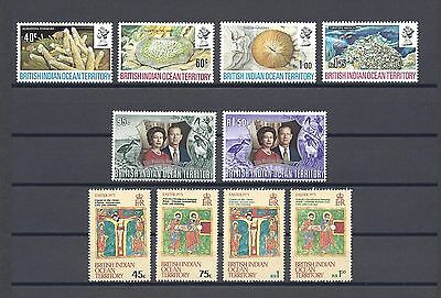 BRITISH INDIAN OCEAN TERRITORY 1972-73 5 SETS MINT/MNH Cat £29.50