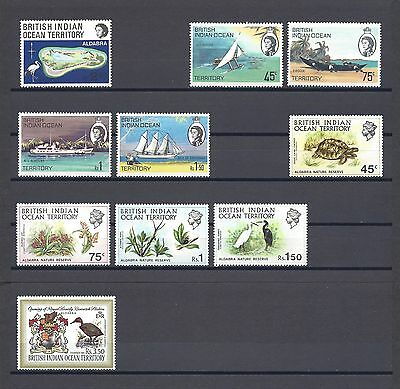 BRITISH INDIAN OCEAN TERRITORY 1969-71 4 SETS MNH Cat £37.85