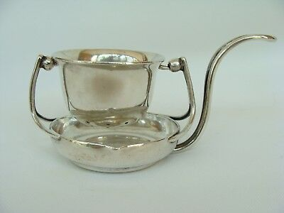vintage Sanborn's Mexican Sterling Silver Swivel Tea Strainer w Stand 121.2gr